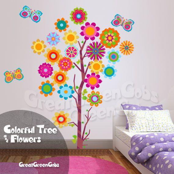 Teen Girl Wall Decals Flower Tree Wall Decal Teen Girl