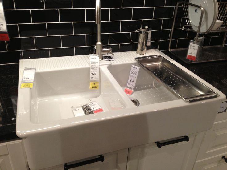 Apron Sink Ikea : Double bowl apron front sink - Ikea. Kitchen Pinterest