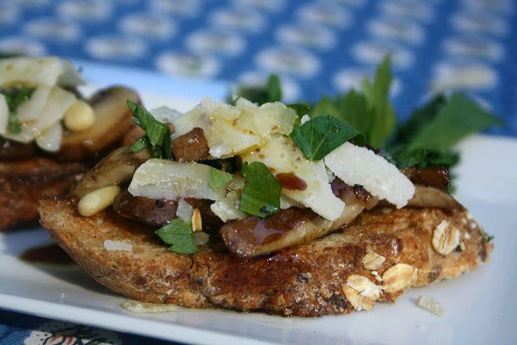 Mushroom Bruschetta | Veg Out!!!! | Pinterest