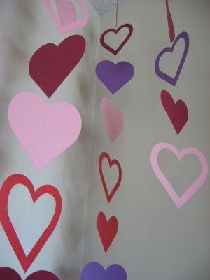 Valentine heart hanging garland valentines day pinterest