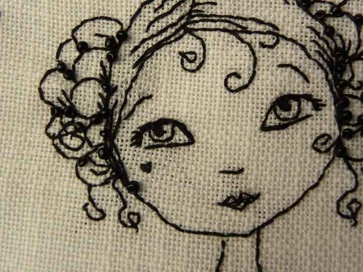 blackwork stitching