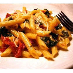 Spinach and Sun - Dried Tomato Pasta | Recipes - Pasta | Pinterest