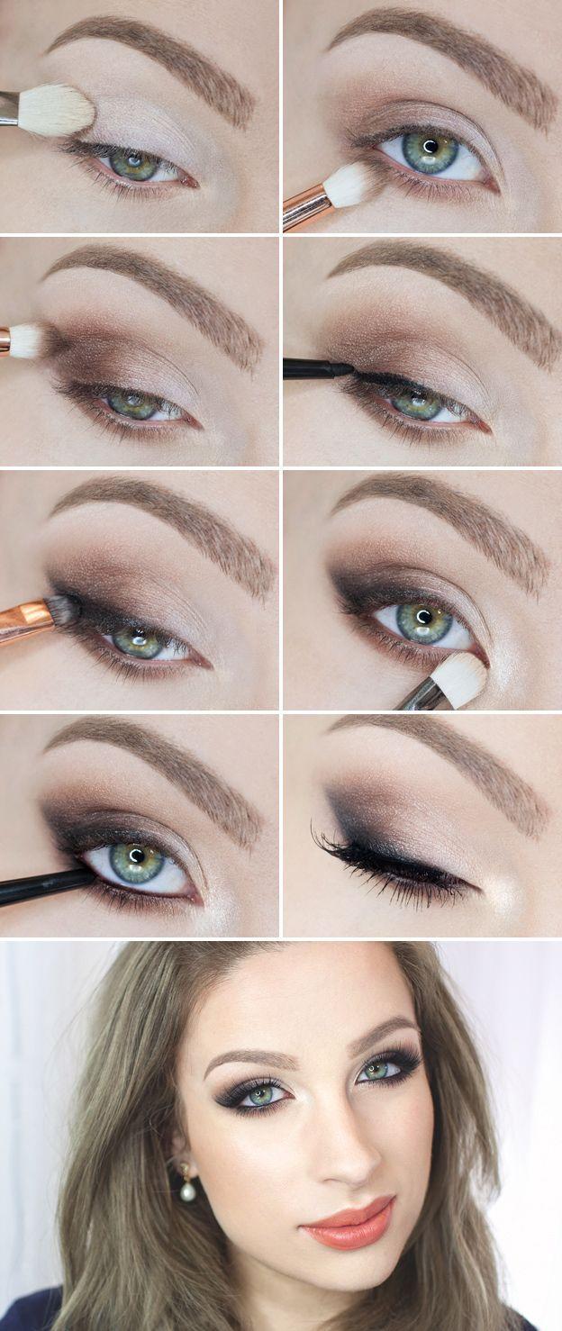 Красивый макияж для голубых глаз - поэтапные действия