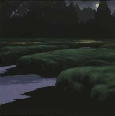 "Gayle Bard  Naselle River Marsh  2012  Oil on Canvas  30"" x 30"""