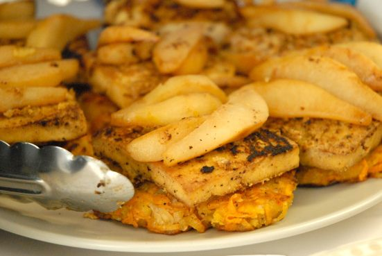 More like this: tofu , sweet potato latkes and potato latkes .