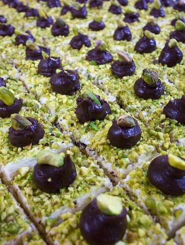 Pistachio Cakelet Petite Fours   CAKELETS!!!   Pinterest