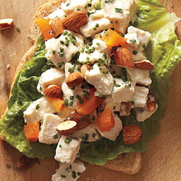 apricot almond chicken salad sandwich   de-lish!   Pinterest