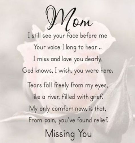 Missing Mom Mothers Day Mother Poems Daughter Happy Heaven Images Quotes