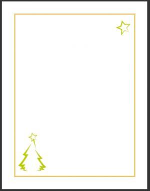 a #printable holiday-themed letterhead