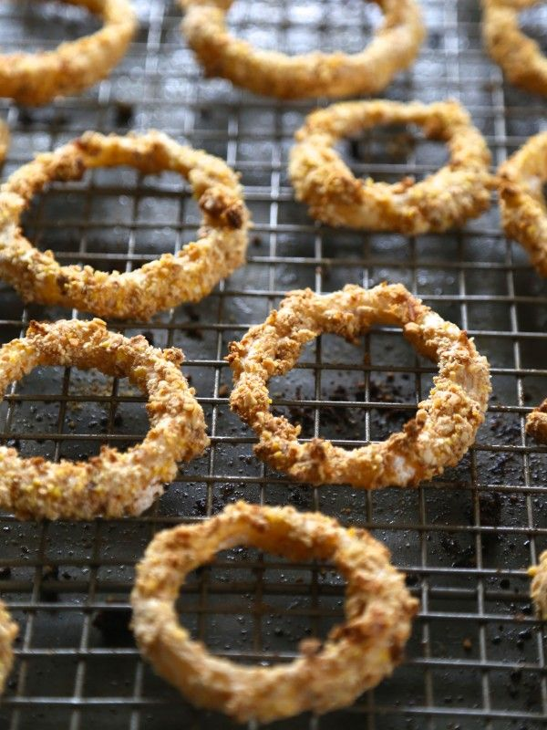 Oven Fried Guinness Onion Rings with Stout Gravy | Recipe