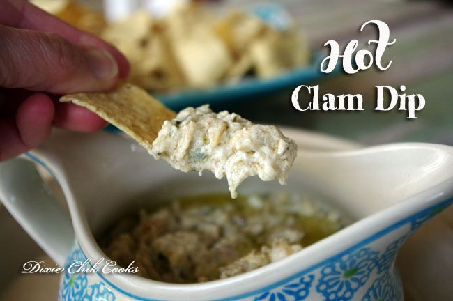 Hot Clam Dip from Dixie Chik Cooks {Dips & Sauces 35}