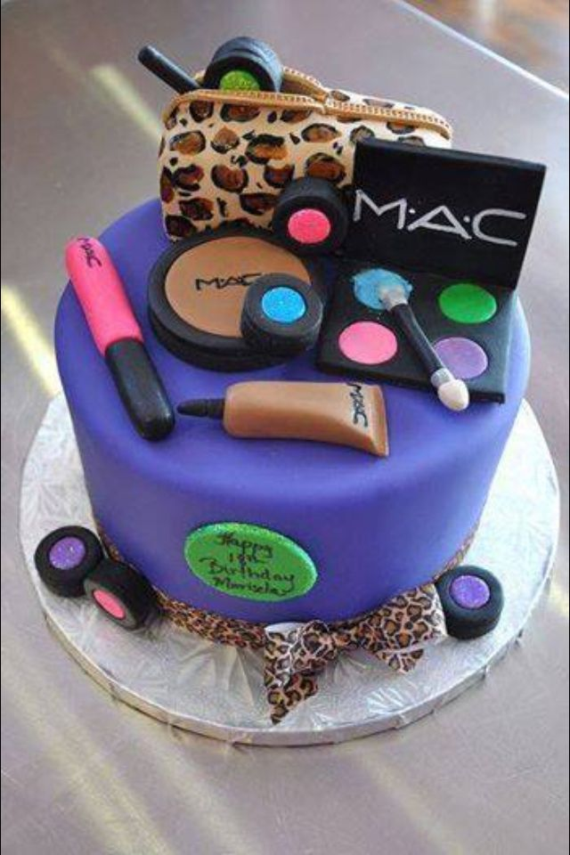 Makeup cake Ideas for cakes and cupcakes Pinterest