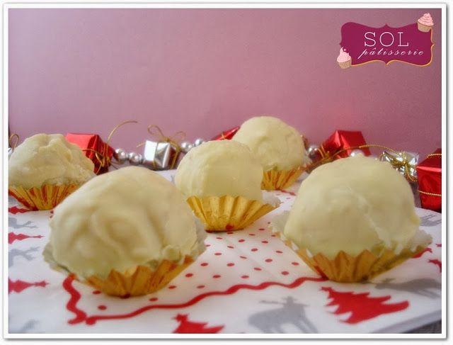 Truffes au chocolat blanc et aux amandes | Gpe FB Idées C.G. SUCRE ...