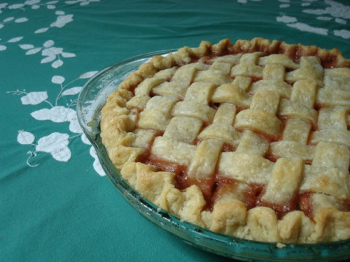 Strawberry Rhubarb Pie w/ Lattice Top - Basically the Epicurious ...