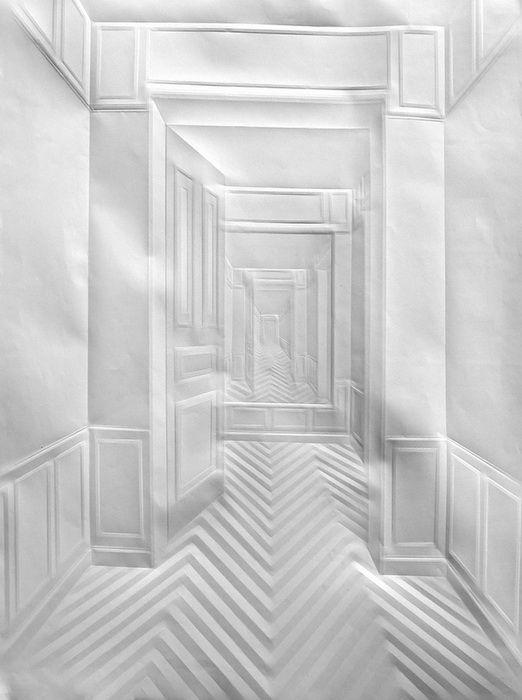 Amazing creased paper architecture