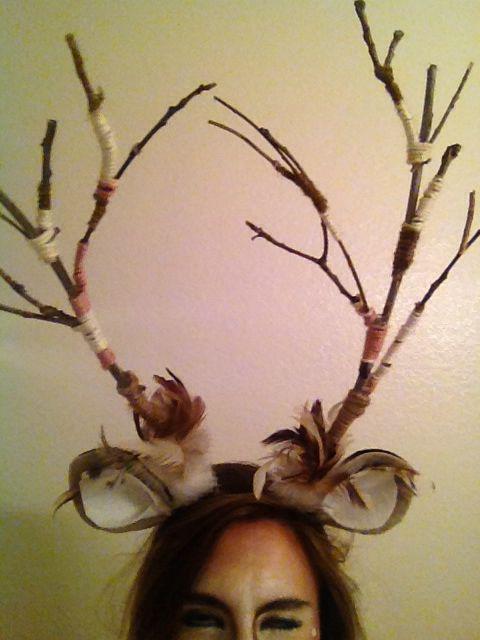Deer Halloween costume. Antlers!
