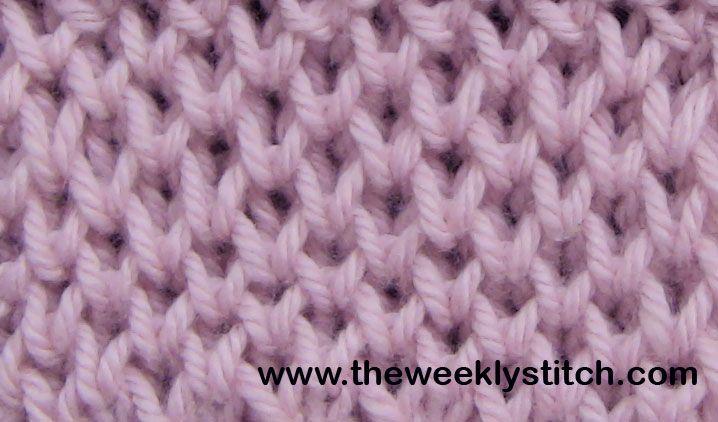 Honeycomb Knitting Stitch How To : Honeycomb Brioche The Weekly Stitch Knitting Stitches Pinterest