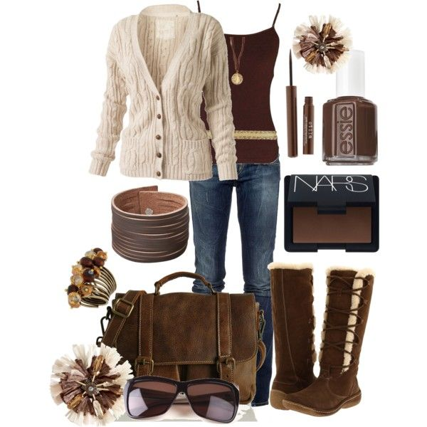 Brown and Cream, created by missyfer88 on Polyvore