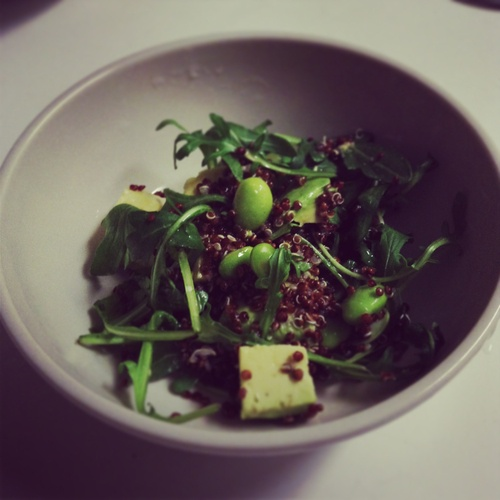 Arugula edamame avocado and quinoa salad | Avocado ♥ers | Pinterest