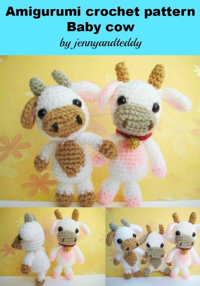 Amigurumi Pattern Little Cows : Pdf Lolly Baby Cow Amigurumi Croche