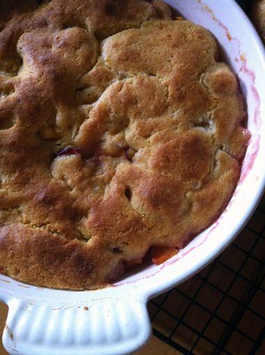 Gluten-free peach cobbler   Gluten Free!!!   Pinterest