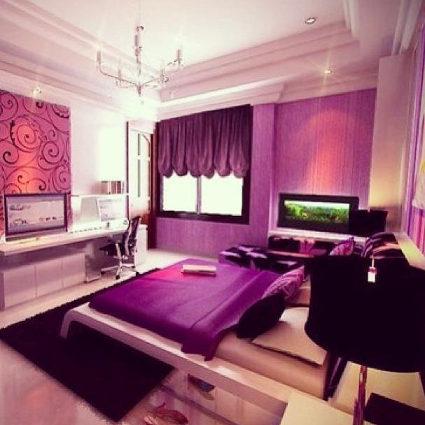 Purple Themed Bedroom My Future Room Pinterest