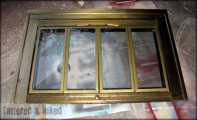 Spray Paint Fireplace Doors For The Home Pinterest