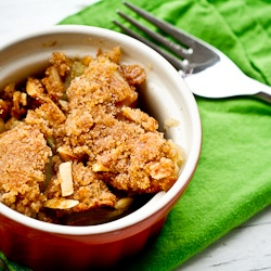 Amaretto Apple Crisp for Food Network's Communal Table
