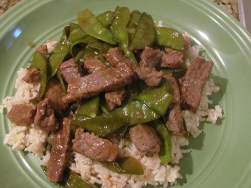 Asian Beef with Snow Peas | Dinner | Pinterest
