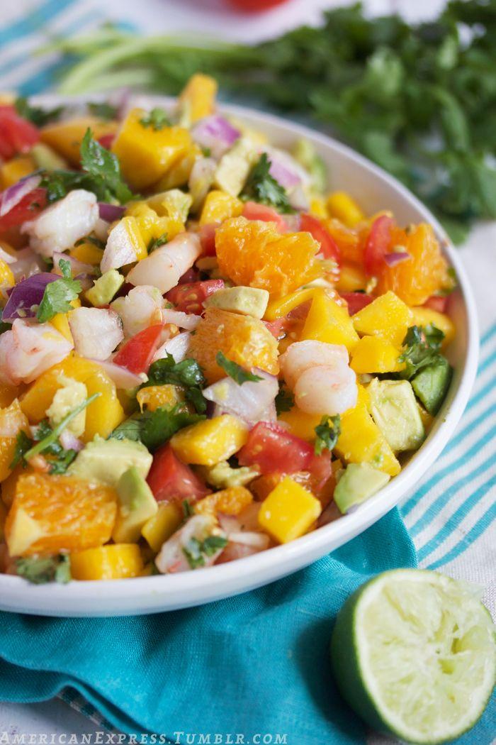 Tropical shrimp ceviche. | Bon Appétit. | Pinterest