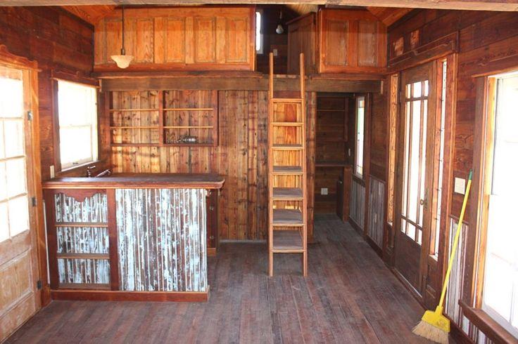 Ellinger Tiny Texas House Empty interior cottage cabin