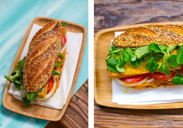 Crispy Tofu Sandwich with Sweet Potato-Pumpkin Spread. - Healthy ...