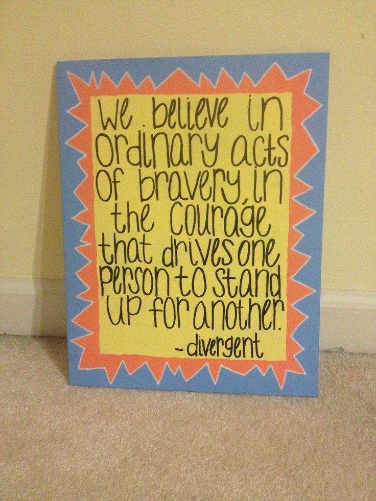 Divergent Quote Canvas