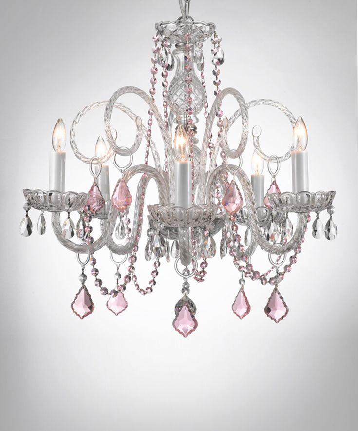 Pink Venetian Crystal Chandelier