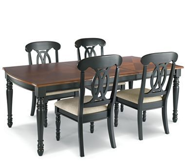Raleigh 5 pc dining set black for Jcpenney dining room furniture