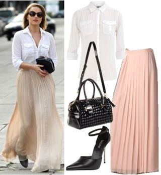 wearing maxi skirts to work skirt