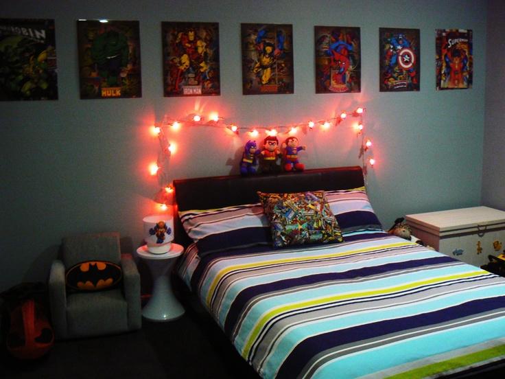 Boys Superhero Bedroom Super Hero Bedroom Pinterest