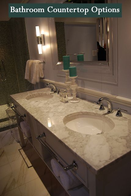 ... bathroom countertops. Here are a few of the more common bathroom