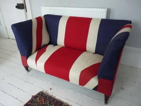 Antique drop end sofa