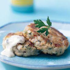 ... corn on the cob - Potato Cod Cakes with Dijon Tartar Sauce Recipe #