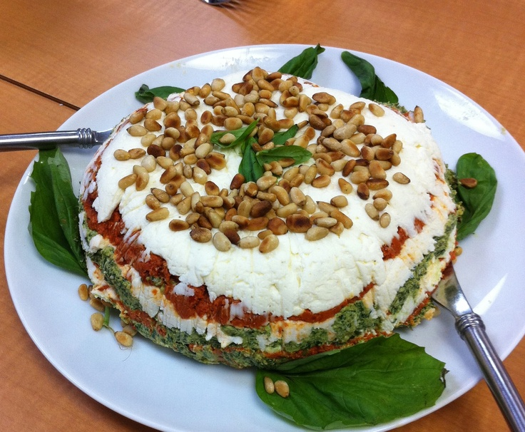 Mediterranean cheesecake is creamy, pretty, and delicious!