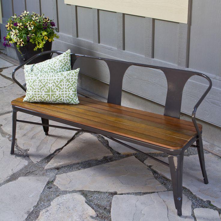 Jardin Outdoor Steel Frame Bench