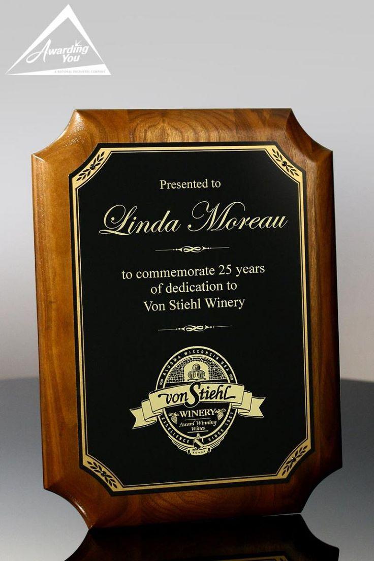 retirement plaque wording