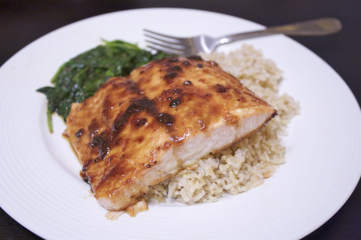 Spicy Miso Ginger Glazed Salmon | Food & Drink Recipes | Pinterest