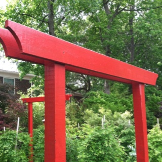 A simple arbor in the Japanese garden Books Worth