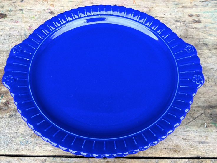 1930's Vistosa Platter in Cobalt Blue Taylor Smith and Taylor. $35.00, via Etsy.