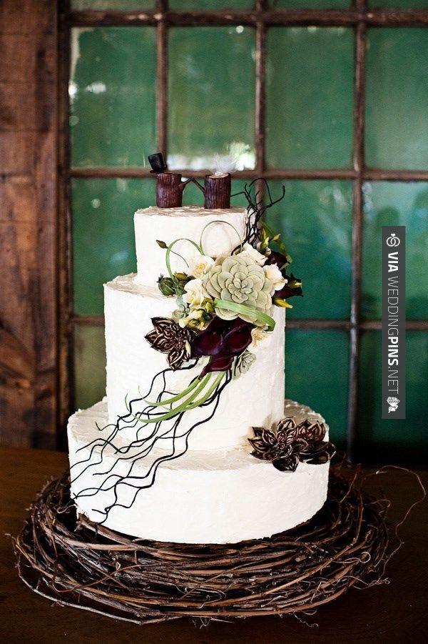 Wedding Cake Design Rustic : Rustic wedding cake Romantic Weddings Pinterest
