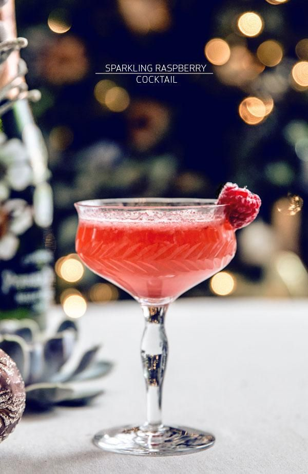 Sparkling Raspberry Cocktail - Champagne, Raspberries, St. Germain ...