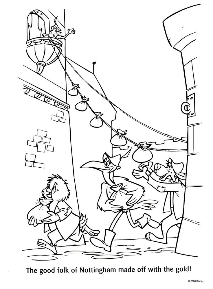 disney coloring pages robin hood - photo#26