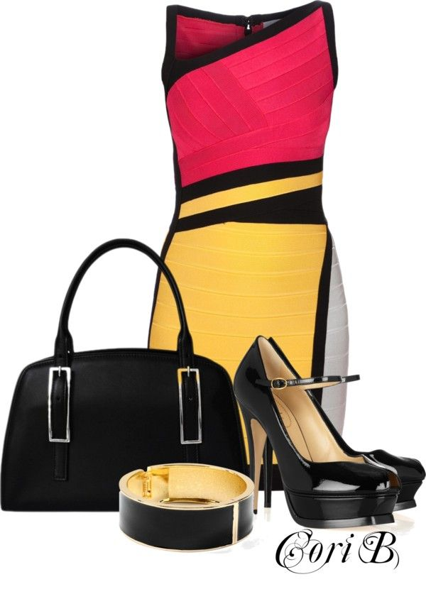 """""""Splash of Color"""" by cori-black ❤ liked on Polyvore"""
